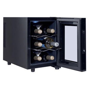 Goplus 6/12/18 Bottles Thermoelectric Wine Cooler Freestanding Temperature Display Bar Kitchen Wine Cooler Glass Door HW54591 - Wines Club