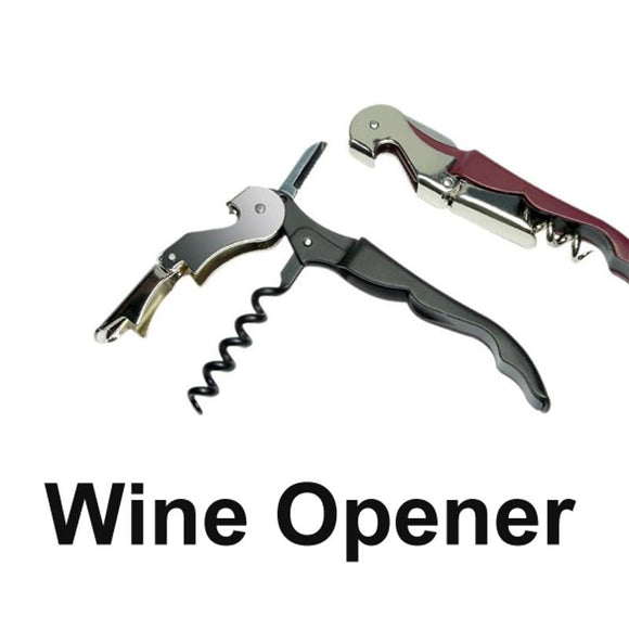 Beer Bottle Opener Multi-Function Wine Cap Opener Corkscrew Stainless Steel Metal With Plastic Handle Kitchen Tools - Wines Club