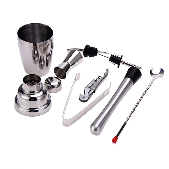 8pcs 350ML Cocktail Set Bartender Kit Stainless Steel Cocktail Shaker Mixer Drink Wine Tools Bar Accessories - Wines Club
