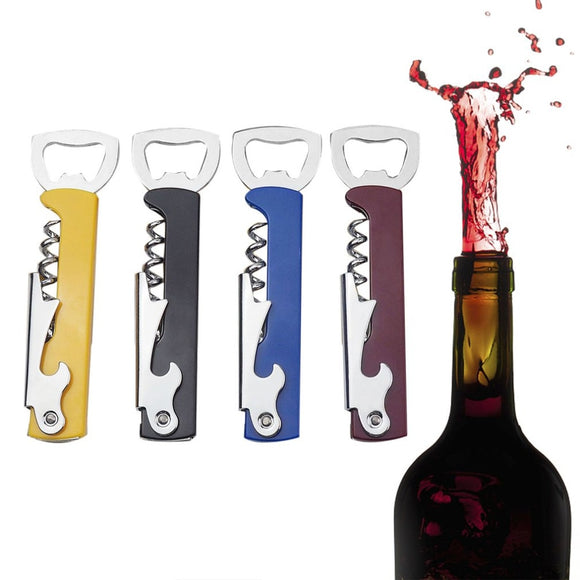 Professional Stainless Steel Wine Opener PP Plastic Handl Screw Corkscrew Double Hinge Waiters Bottle Opener Can Beer Opener - Wines Club