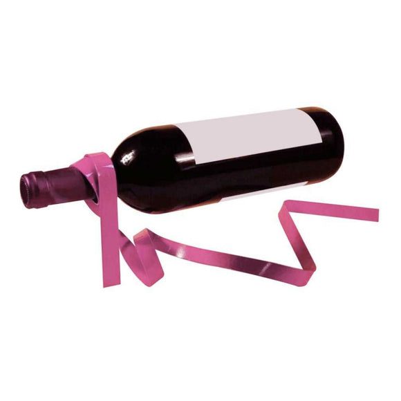 Magic Suspended Ribbon Wine Rack Suspension Wine Stand Iron Rack Bottle Holder Bar Wedding Party Decoration Silk Rope 6 Colors - Wines Club