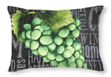 Wine Grapes II Throw Pillow - Wines Club