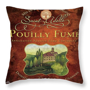 Wine Label II Throw Pillow - Wines Club