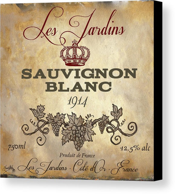 Wine Label Vi Canvas Print by Elizabeth Medley - Wines Club