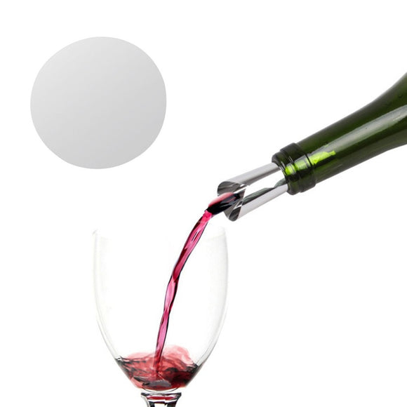 PREUP Foldable Wine Pourer Leak Proof Spouts Aluminum Foil Wine Whisky Pourer Flexible Reusable Drop Stop Pouring Disc