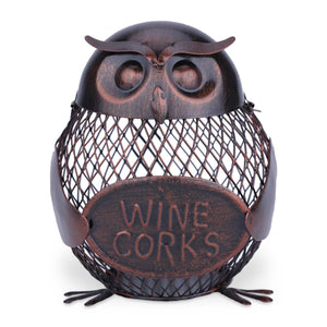 TOOARTS Owl mesh winebottle holder  Owl Bottle cork container  Iron art   Practical decoration  Creative sculpture   Creative wine holder  Crafts - Wines Club