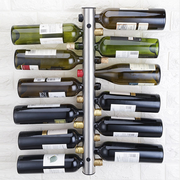 Stainless steel red wine rack, wall hung vertical creative wine rack, Bottle wall mounted  European Style free shipping - Wines Club
