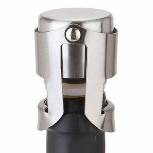 Free shipping! New Wine Bottle Sparkling Champagne Stopper Stainless Steel Plug Seal YY290100 - Wines Club