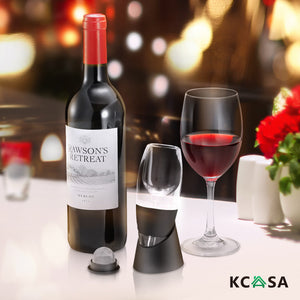 KCASA Red & White Wine Aerator + Stand + Filter Wine Aerator Decanter Set Xmas - Wines Club
