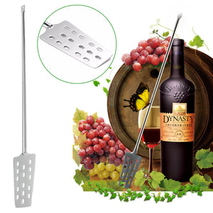 316 Stainless Steel 24.41'' Homebrew Wine Beer Mash Tun Making Paddle W/15 Holes - Wines Club