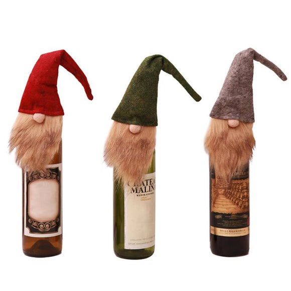 Old Man Faceless Doll Wine Bottle Cover Home Dinner Party or Gift Christmas Decoration Bottle Wrap - Wines Club