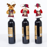 Santa Claus red wine set Christmas creative champagne red wine bottle set Christmas decorations Christmas red wine bottle set - Wines Club
