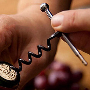 Portable Spiral Wine Opener Corkscrew Outdoor Mini Metal Keychain Key Ring