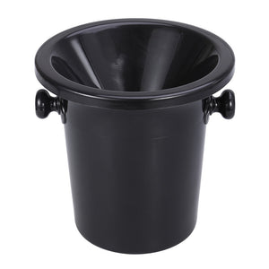 Wine Tasting Spittoon Black Wine Spittoon Wine Dump Bucket Plastic Round Double Ears Ice Bucket Wine Tasting Accessories - Wines Club
