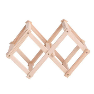 Wooden Red Wine Rack 3/10 Bottle Holder Mount Kitchen Bar Display Shelf Folding Wood Wine Rack Alcohol Drink Bottle Holders - Wines Club