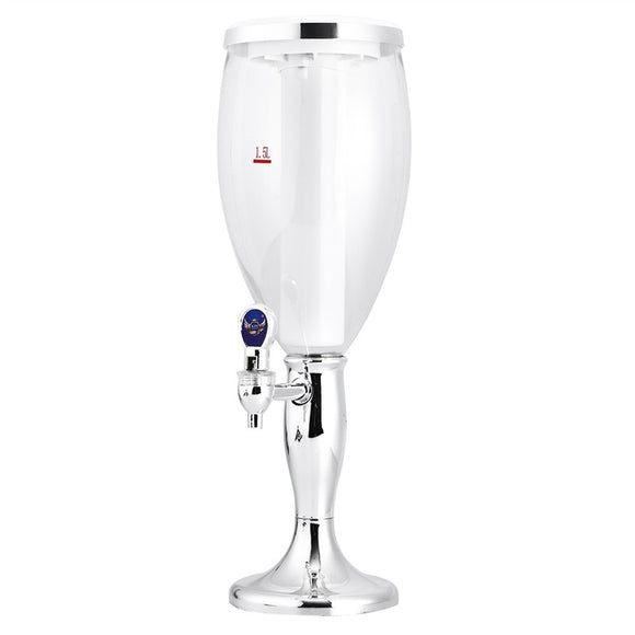 1.5 L Plastic Tabletop Wine Beer Tower Beverage Juice Dispenser with LED Colorful Shinning Lights - Wines Club