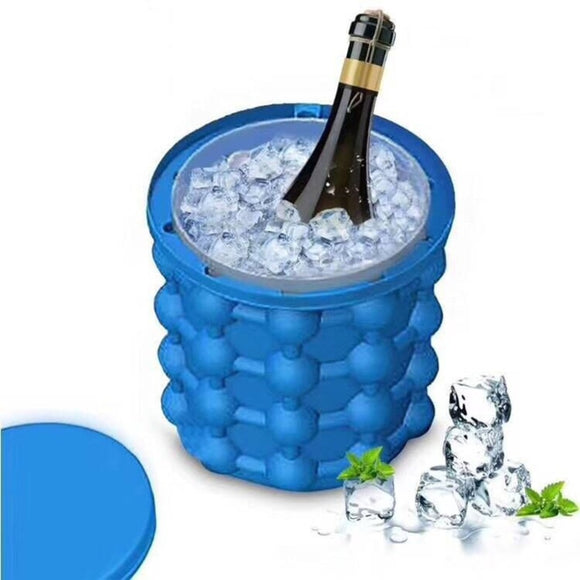 Silicone Ice Bucket Kitchen Accessories Bucket Champagne Wine Beer Ice Cooler Bar Night Club Party  kitchen Ice Bucket With Lid - Wines Club