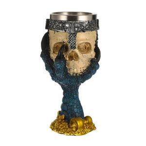Coolest Gothic Resin Skull Goblet Retro Claw Wine Glass Cocktail Glasses E5M1 - Wines Club
