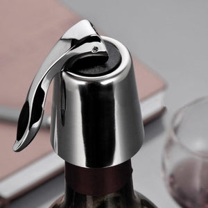 Stainless Steel Reusable Vacuum Sealed Red Wine Bottle Stopper Cap Plug E5M1 - Wines Club