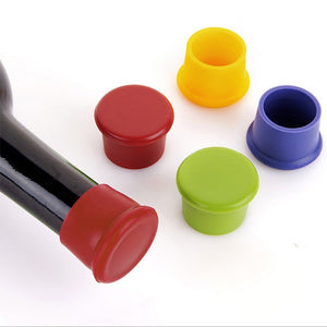 2PC Silicone Wine Beer Cover Bottle Cap Stopper Beverage Home Kitchen Bar Tools