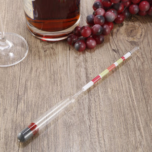 2018 Hot Sale 3 Scale Hydrometer For Home brew Wine Beer Cider Alcohol Testing Triple Scale Hydrometer Alcohol Brix Meter - Wines Club