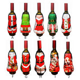 Christmas Apron bottle Wine Cover Christmas Sexy Lady/Xmas Dog/Santa Pinafore red wine bottle wrapper Holiday Bottle Clothes - Wines Club