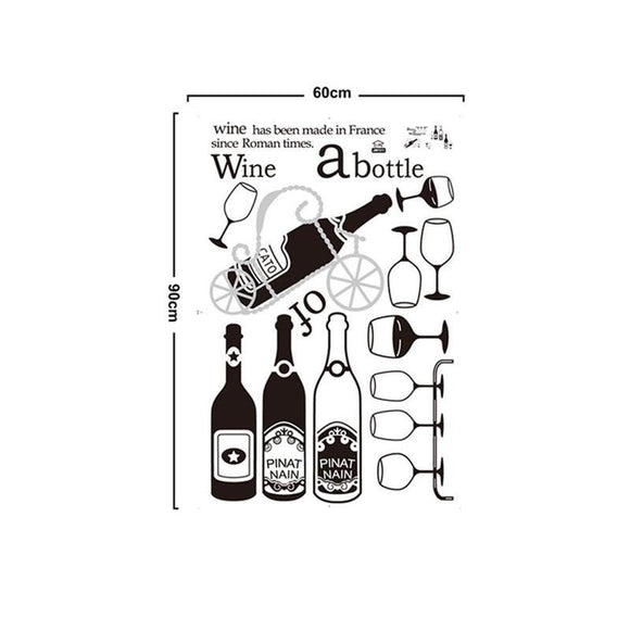 Red Wine Glass Summer Drink Wall Sticker Decal Art Home Decor - Wines Club