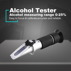 Handheld Refractometer 25-40% Sugar 0-25% Alcohol Concentration Optical Wine Content Meter Mini ATC Measuring Tester - Wines Club