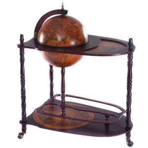 Vintage Globe Wine Stand Bottle Rack with Extra Shelf - Wines Club