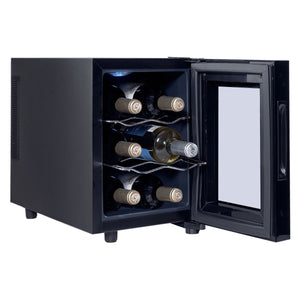 6 Bottle Freestanding Thermoelectric Wine Cooler Freestanding - Wines Club
