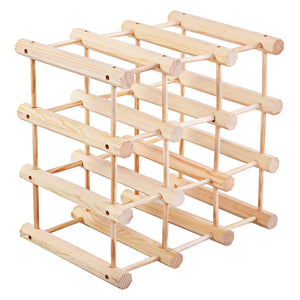 Wooden Bottle Rack Wine Holder for 12 Bottles