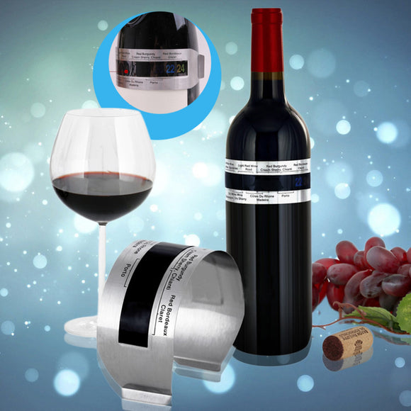 Stainless Steel Intelligent Display LCD Electric Red Wine Bottle Digital Thermometer Temperature Meter Kitchen Tools