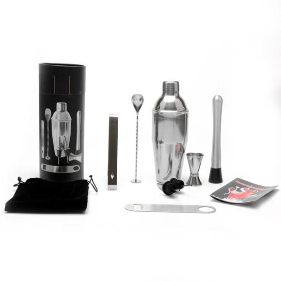 11pcs/set Stainless Steel Cocktail Shaker Bar Set Wine Martini Drinking Mixer Shaker For Party Bar Tool E5M1