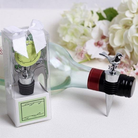 Stainless Steel Reusable Vacuum Sealed Red Wine Bottle Stopper Plug Favors Gifts - Wines Club
