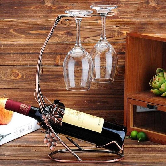 Wine Holders Rack Bottle Goblet Holder Wine Glass Cup Wine Holders - Wines Club