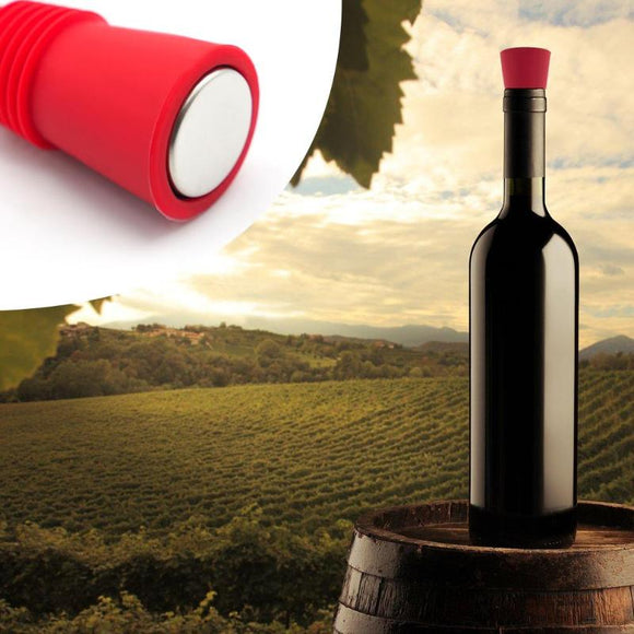 Wine Stoppersl Silicone Red Wine Stopper Vacuum Sealed Wine Bottle Stopper Cap Champagne Sealer Bar Kitchen Tools - Wines Club