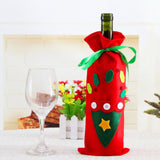 Christmas Tree Snowman Design Wine Champagne Bottle Cover Red Wine Gift Bags Pretty Merry Christmas Decoration Supplies Xmas Home Ornaments Santa Reindeer Dinner Party - Wines Club