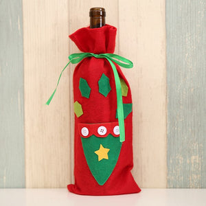 Christmas Decorations Santa Claus Wine Bottle Cover Bag Champagne Bottle Holder Bags For Home Dinner Party Table Decoration 2019 - Wines Club