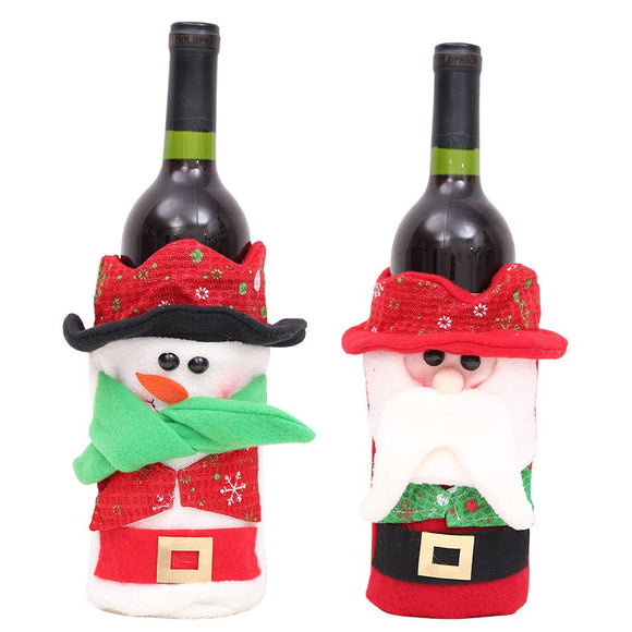 Lovely Santa Clause Snowman Wine Bottle Bag Champagne Holder Gift Bags Christmas Decoration For Home Party Table Decoration 2019 - Wines Club