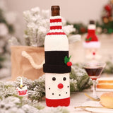 Christmas Santa Claus Knitting Red Wine Bottle Cover For Bar Christmas Snowman Bottle Bag Decoration Dinner Table Decor For Home - Wines Club