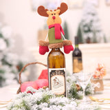 Christmas Decorations For Home Lovely Santa Claus Wine Bottle Cover Cap Dinner Party Table Christmas Decorations 2018 Banquet - Wines Club
