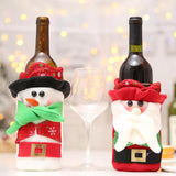 Non-Woven Santa Claus Snowman Wine Bottle Cover Bags Home Dinner Party Table Decorations Christmas Supplies - Wines Club