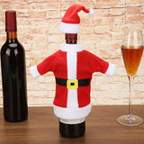 Christmas Santa Clause Red Wine Bottle Covers Clothes with Hats Christmas Dinner Table Decoration New Year Ornaments - Wines Club