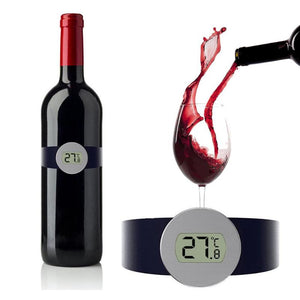 -9  ~ 65 degree Digital Thermometer Champagne Wine Bottle Snap Wine Thermometer Kitchen Bar Accessories