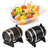 Creative Plastic Wine Barrel Automatic Toothpick Box Container Dispenser Toothpick Holders Household Supplies