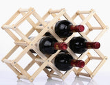 Quality Wooden Wine Bottle Holders Creative Practical Collapsible Living Room Decorative Cabinet Red Wine Display Storage Racks - Wines Club
