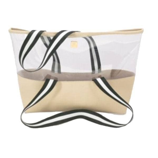 Ridgemont Tote, Oyster + Black & White - Hampton Road Designs