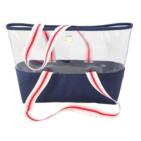 Ridgemont Tote, Royal Blue + Pink, Red, & White - Hampton Road Designs