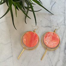 Load image into Gallery viewer, Halo Earrings- Precious Coral