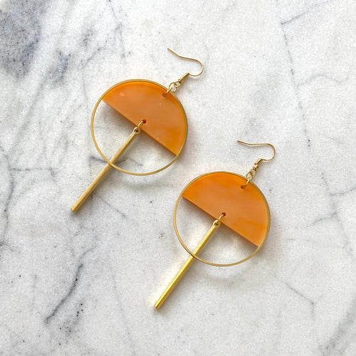 Lunar Earrings- Mango Lassi